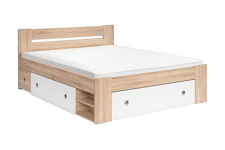 Ulle Sengeramme 160x200 cm - Hvid/Lyst Træ - Møbler - Senge - Sengeramme & sengestel