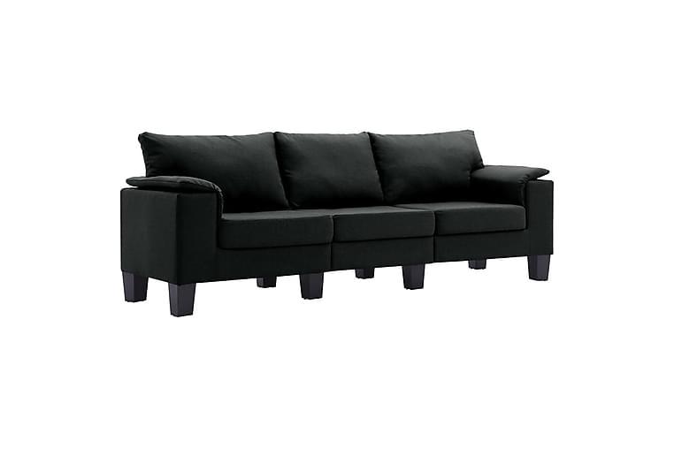 3-personers sofa stof sort - Sort - Møbler - Sofaer - 2 - 4 Personers sofaer