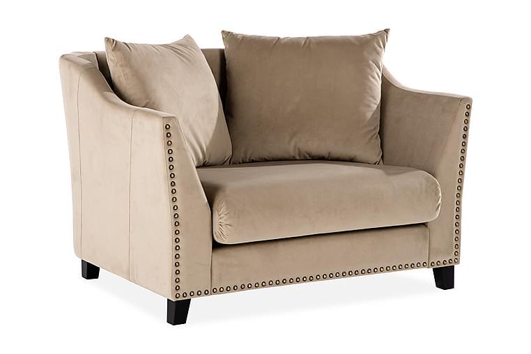 Guiende 1,5-Pers. Sofa med Nitter - Beige - Møbler - Sofaer - 2 - 4 Personers sofaer