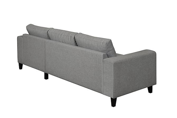 Austin sofa med chaiselong h jre lysegr for Sofa 3 cuerpos casanova austin