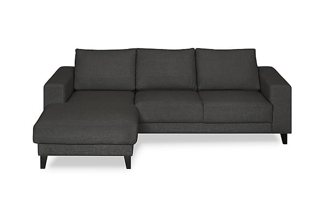 Austin sofa med chaiselong venstre m rkegr for Sofa 3 cuerpos casanova austin