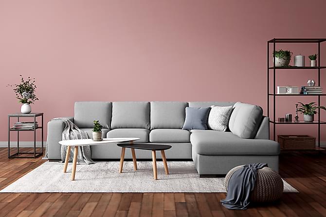 Glimrende Boss 4-pers Sofa med Chaiselong Højre - Lysegrå | Trademax.dk IH-88