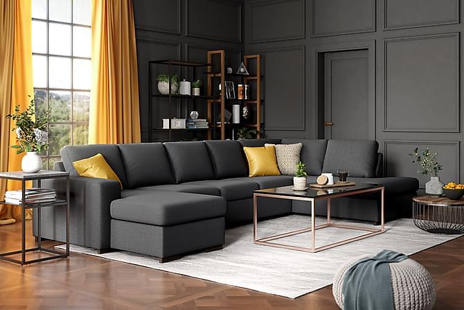 Boss U-sofa Large med Chaiselong Venstre - Antracit - Møbler - Sofaer - Chaiselongsofa & U-Sofa