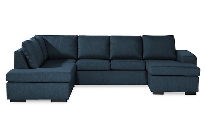 Boss U-sofa med Chaiselong Højre - Mørkeblå - Møbler - Sofaer - Chaiselongsofa & U-Sofa