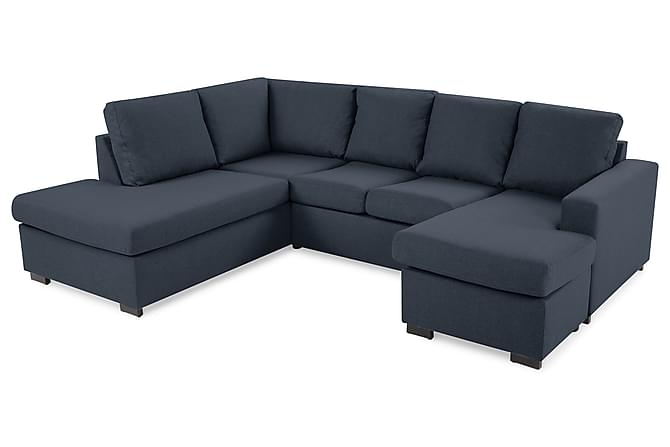 Crazy U-sofa Large diva højre - Blå - Møbler - Sofaer - Chaiselongsofa & U-Sofa