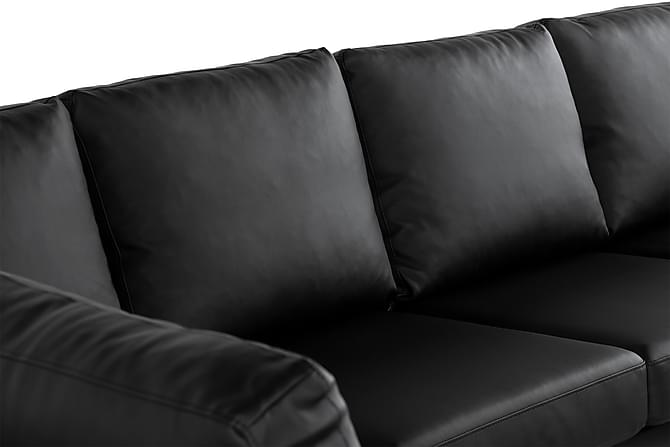 crazy u sofa xxl venstre sort pu l der. Black Bedroom Furniture Sets. Home Design Ideas