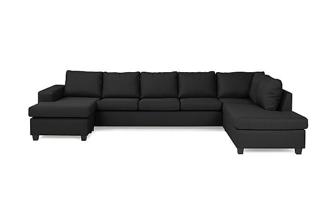 Houston U-sofa Large med Chaiselong Venstre - Mørkegrå - Møbler - Sofaer - Chaiselongsofa & U-Sofa