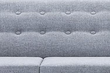 L-Formet Sofa I Stofbeklædning 171,5 X 138 X 81,5 Cm Lysegrå