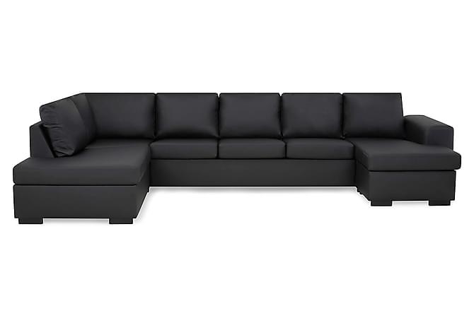 Link U-sofa XXL med Chaiselong Højre - Sort - Møbler - Sofaer - Chaiselongsofa & U-Sofa