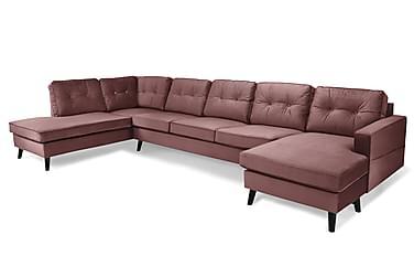 Monroe U-sofa Large med Chaiselong Højre Velour