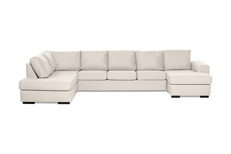 Ocean U-sofa Large med Chaiselong Højre - Beige - Møbler - Sofaer - Chaiselongsofa & U-Sofa