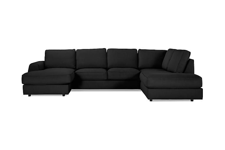 Optus Lyx U-sofa med Chaiselong Venstre - Hørsort - Møbler - Sofaer - Chaiselongsofa & U-Sofa