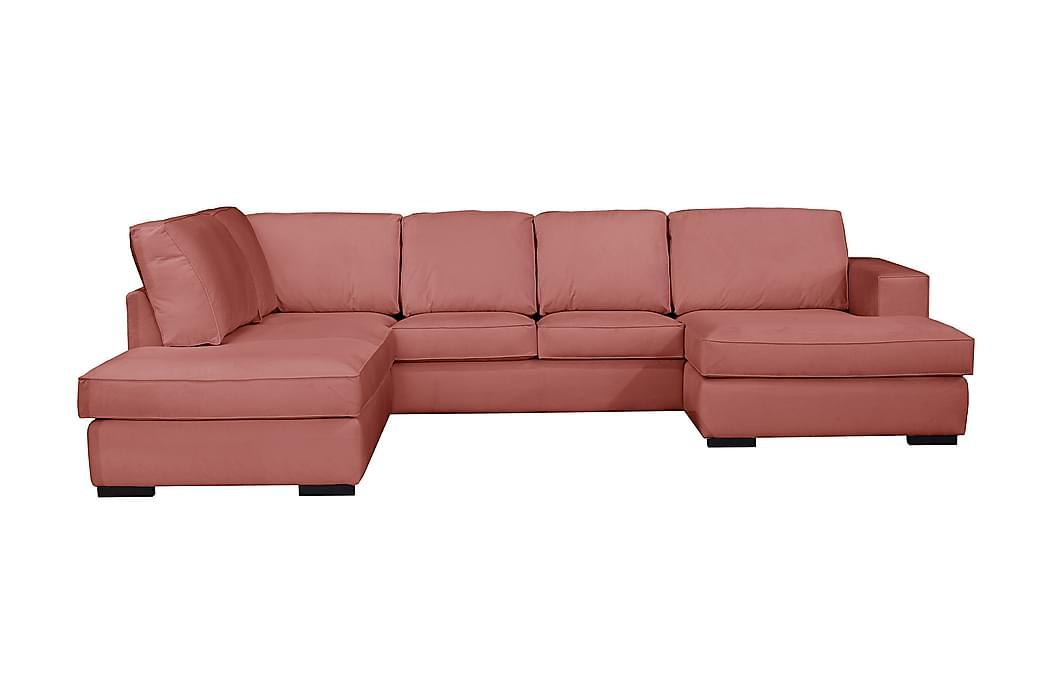 Steinland U-sofa Divan Venstre - Pink, træben - Møbler - Sofaer - Chaiselongsofa & U-Sofa