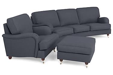 Howard Lyx Sofagruppe 4-pers+ Lænestol+Puf