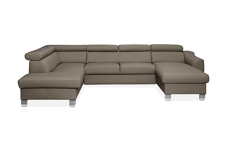 ASPEN U-sofa - Grå - Møbler - Sofaer - Lædersofaer
