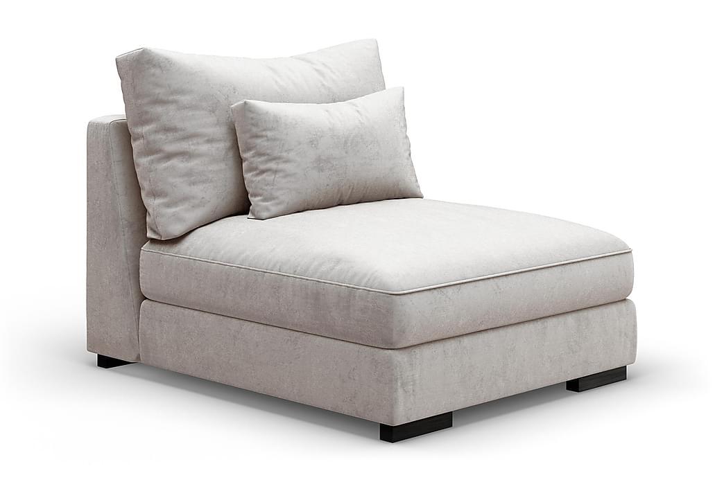 Dubai Midtermodul Velour - Hvid - Møbler - Sofaer - Modulsofaer