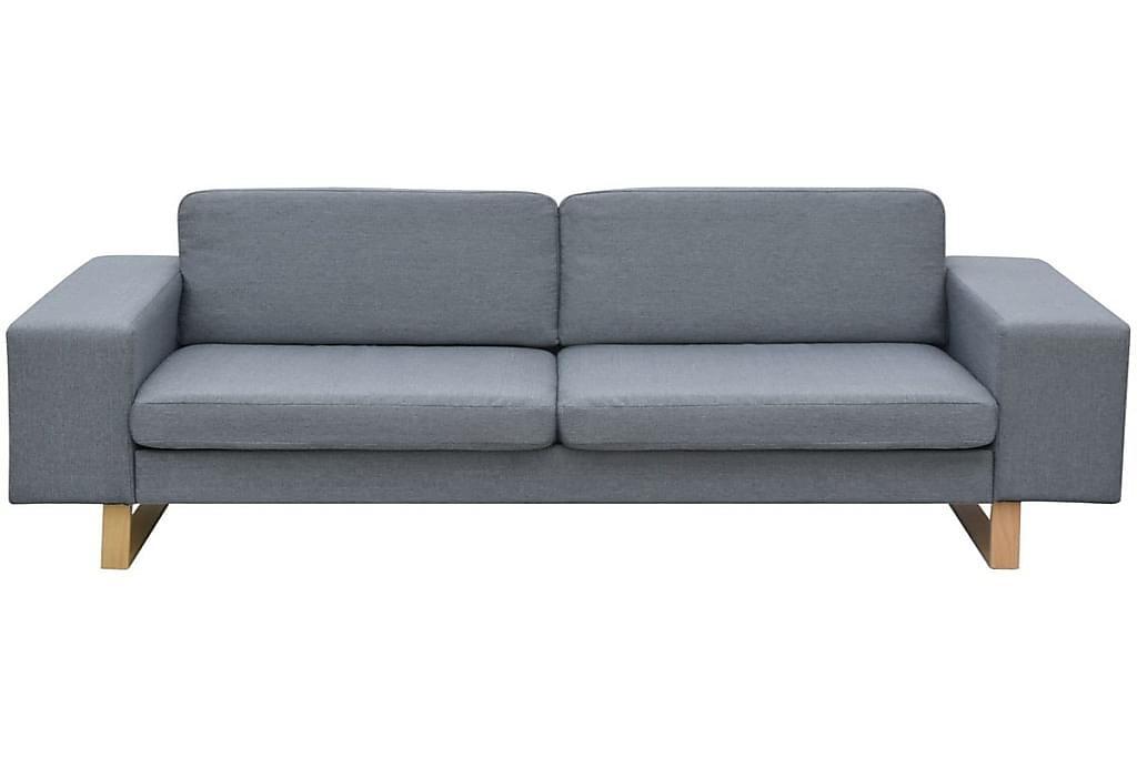 2-Sæders Og 3-Sæders Sofasæt I Lysegrå - Grå - Møbler - Sofaer - Sofagrupper