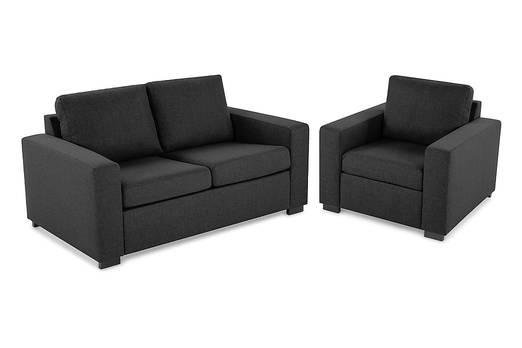 Crazy Sofagruppe 2-pers. + lænestol - Mørkegrå - Møbler - Sofaer - Sofagrupper