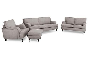 Howard Classic Sofagruppe 2-pers+3,5-pers+Lænestol+Puf