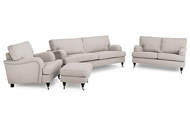 Howard Classic Sofagruppe 2-pers+Lænestol+Puf