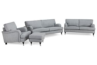 Howard Classic Sofagruppe 3,5-pers+3-pers+Lænestol+Puf
