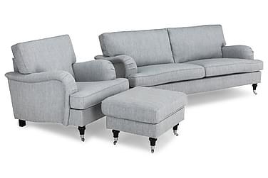 Howard Classic Sofagruppe 3,5-pers+Lænestol+Puf