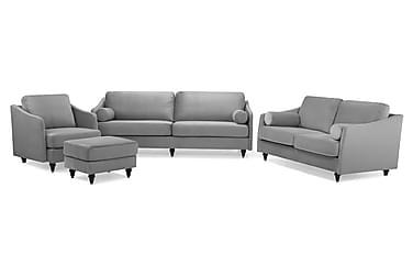 Mirage Sofagruppe 3-pers+2-pers+Lænestol+Puf Velour