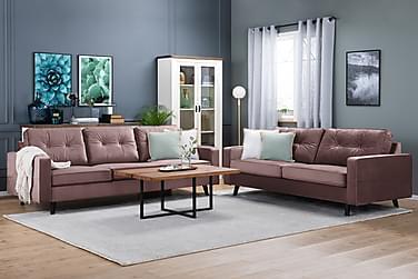 Monroe Sofagruppe 3-pers+2,5-pers Velour