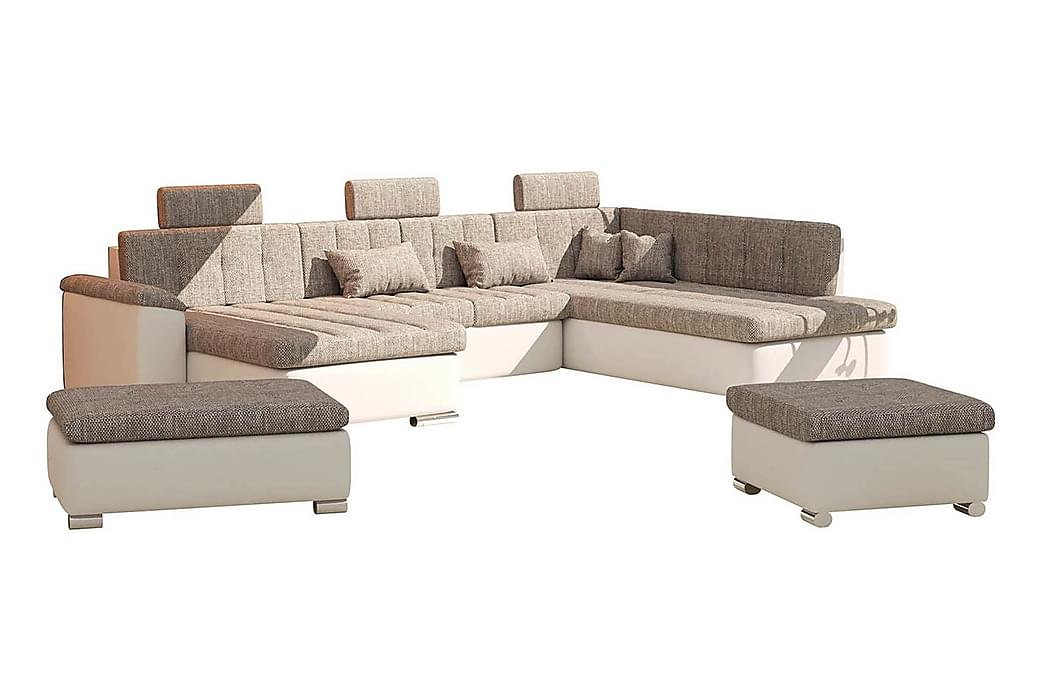 Presto sofagruppe - Beige / Grå - Møbler - Sofaer - Sofagrupper