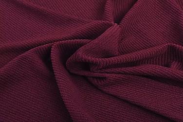 Sofaovertræk, Stræk, Vinrødt, Ribstrikket Polyesterstof