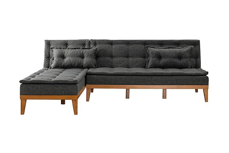 Fuoco chaiselongsovesofa - Antracit - Møbler - Sofaer - Sovesofaer