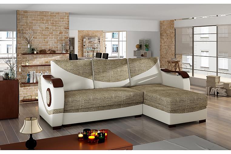Huelves sovesofa med sofa - Beige - Møbler - Sofaer - Sovesofaer