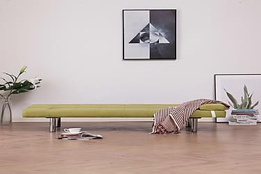 Sovesofa Med To Puder Polyester Grøn