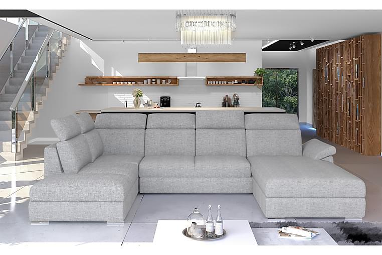 Zoana sovesofa med dobbelt sofa - Grå - Møbler - Sofaer - Sovesofaer