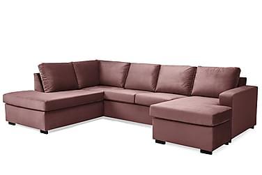 Crazy U-sofa Large diva højre velour