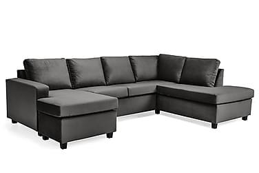 Crazy U-sofa Large diva venstre velour