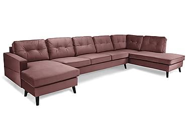 Monroe U-sofa Large med Chaiselong Venstre Velour
