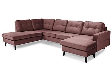 Monroe U-sofa med Chaiselong Højre Velour