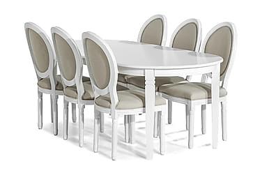 Läckö Spisebordssæt 200 cm med 6 Lewis Stole