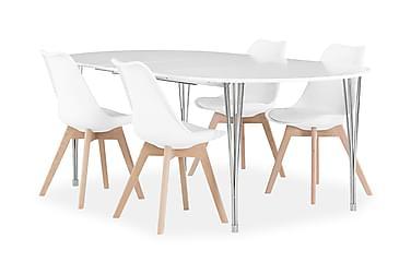 Tyson Spisebordssæt 160 cm + 4 Lovi Stol