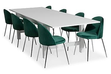 Aleta Spisebordssæt (Kan forlænges) med 8 Felipe Stol Velour