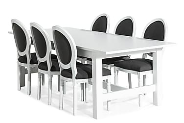 Altea Spisebordssæt Udvideligt 240 cm med 6 Lewis Stole