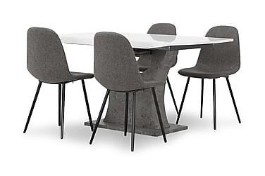 Azusa Spisebordssæt 140 cm med 4 John Stol