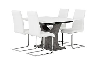 Azusa Spisebordssæt 140 cm med 4 Sorado Stole