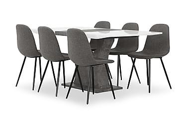 Azusa Spisebordssæt 140 cm med 6 John Stol