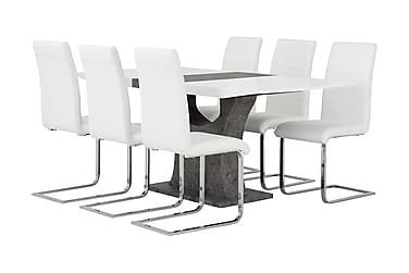 Azusa Spisebordssæt 140 cm med 6 Sorado Stole