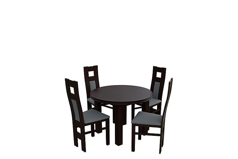 Bandö Spisebordssæt - Valnød - Møbler - Spisebordssæt - Rektangulært spisebordssæt