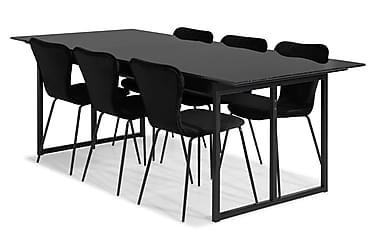 Carrie Spisebordssæt Marmor med 6 Perco Stol