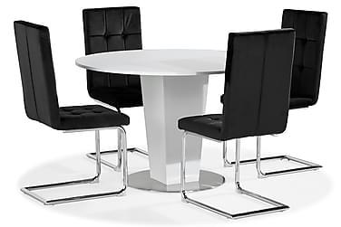 Cubic Spisebord 120 cm Med 4 st Jessed Spisestole