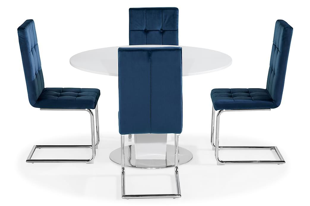 Cubic Spisebord 120 cm Med 4 stk Jessed Spisebordsstol - Møbler - Spisebordssæt - Rektangulært spisebordssæt